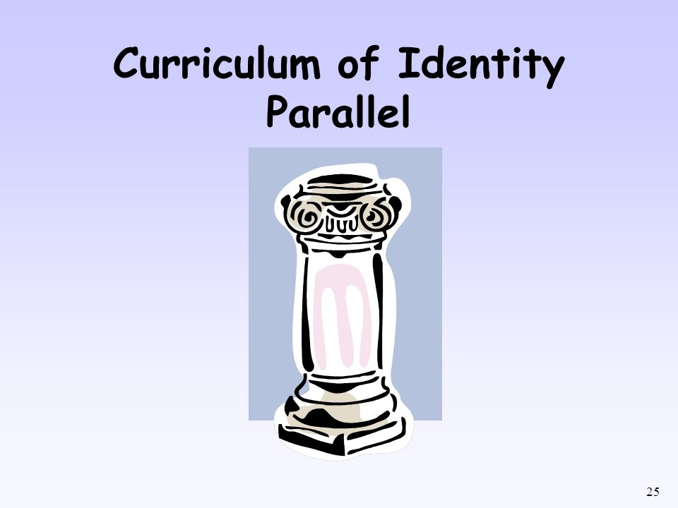 Curriculum of Identity Parallel