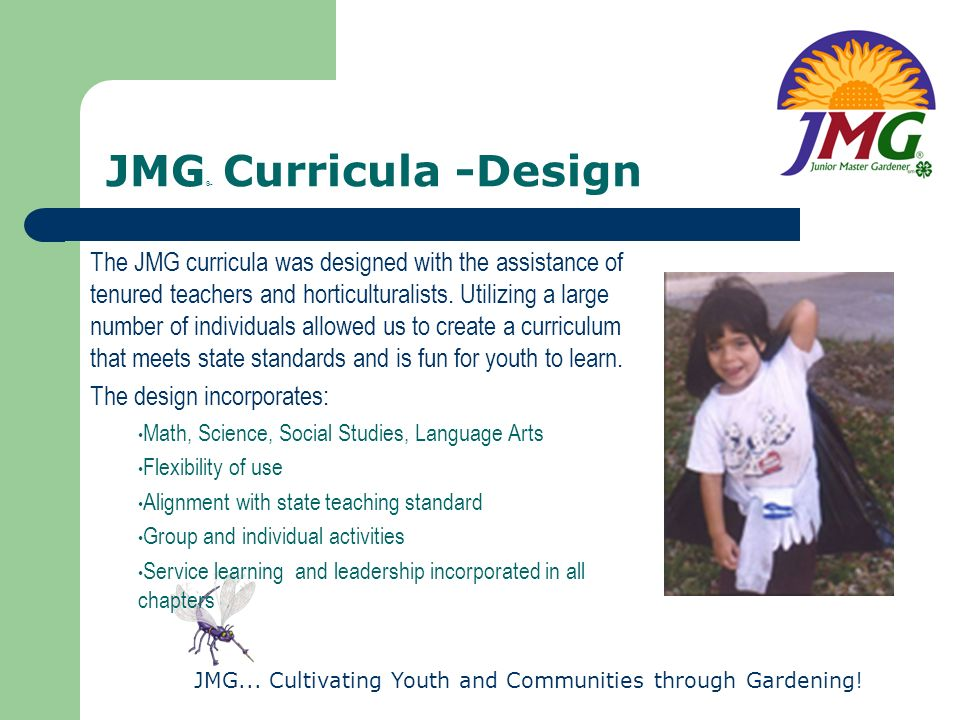 JMG® Curricula -Design