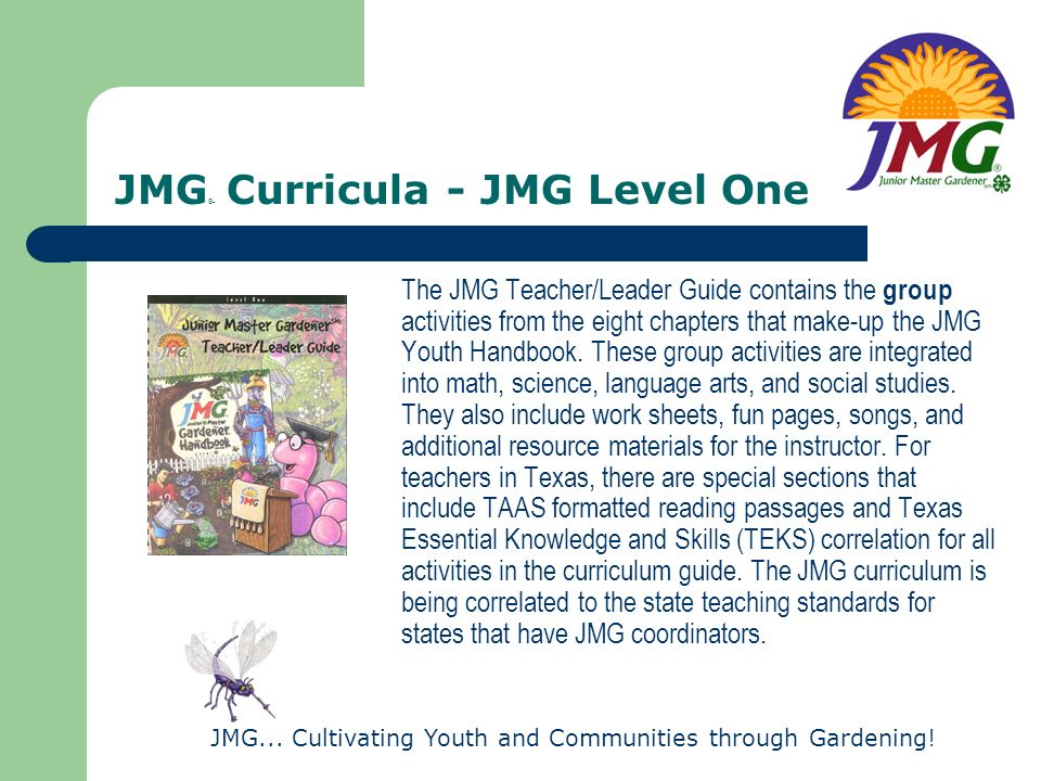JMG® Curricula - JMG Level One