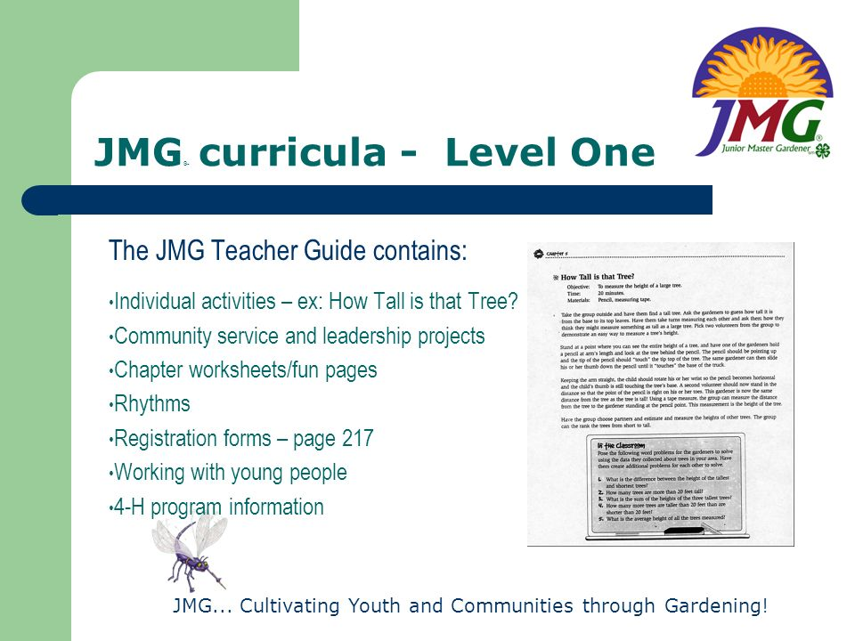 JMG® curricula - Level One