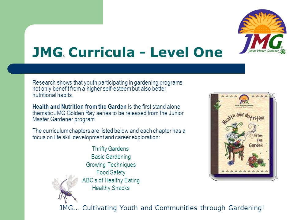 JMG® Curricula - Level One