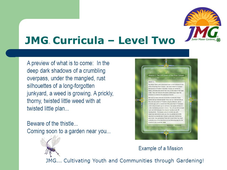 JMG® Curricula – Level Two