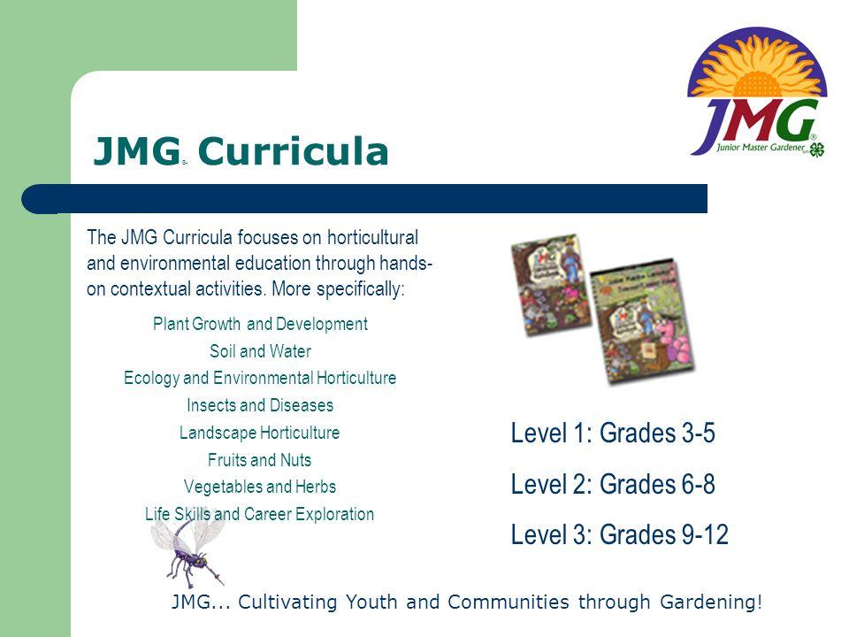 JMG® Curricula Level 1: Grades 3-5 Level 2: Grades 6-8