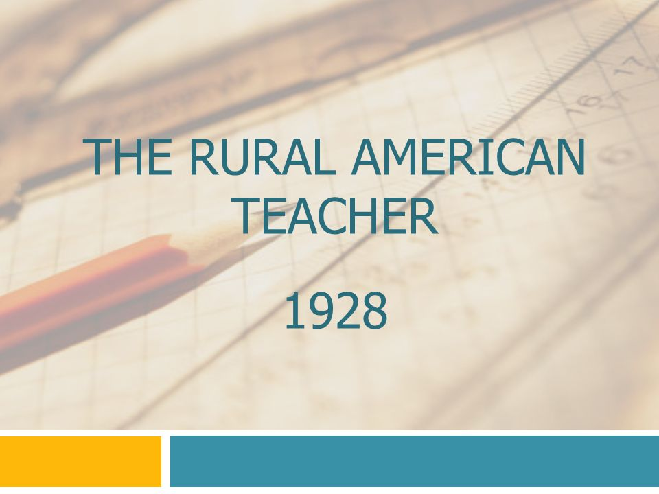 The Rural American Teacher