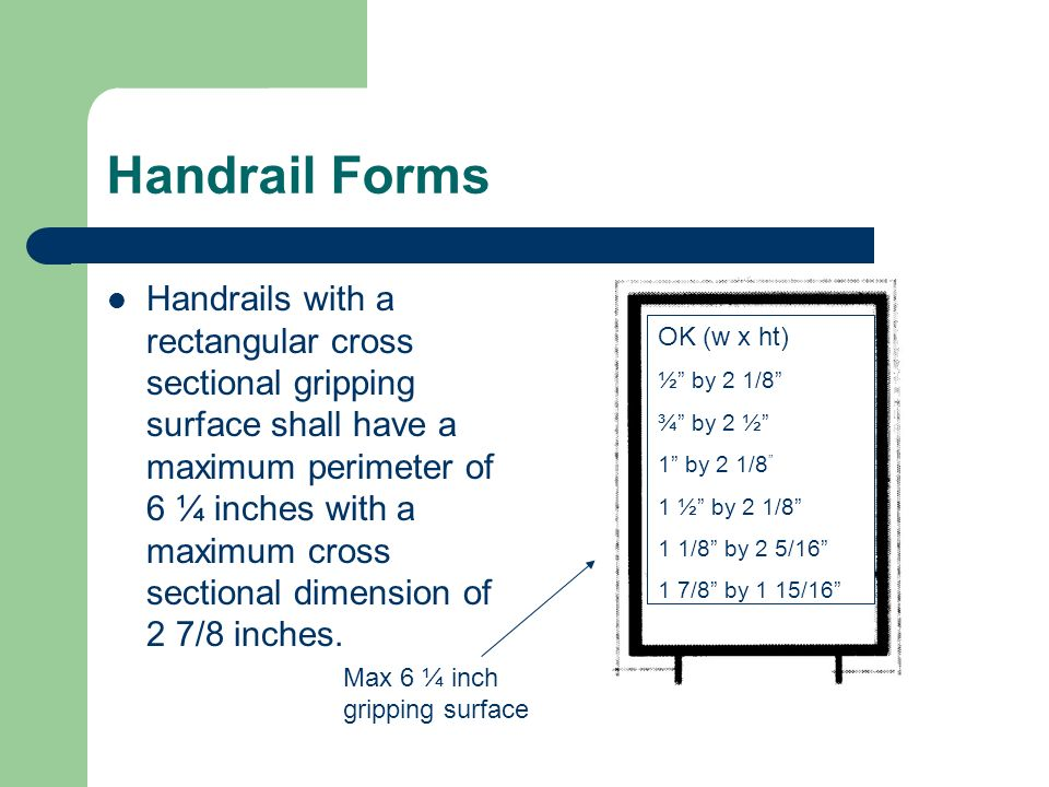 Handrail Forms