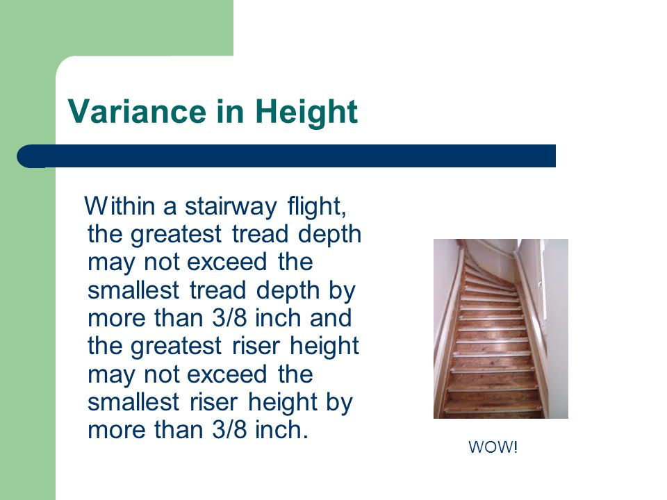 Variance in Height