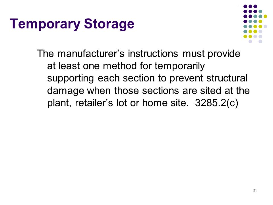 Temporary Storage
