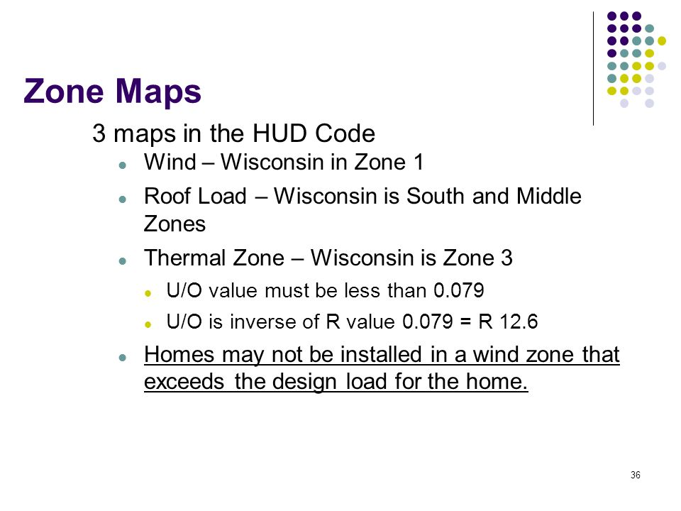 Zone Maps 3 maps in the HUD Code Wind – Wisconsin in Zone 1