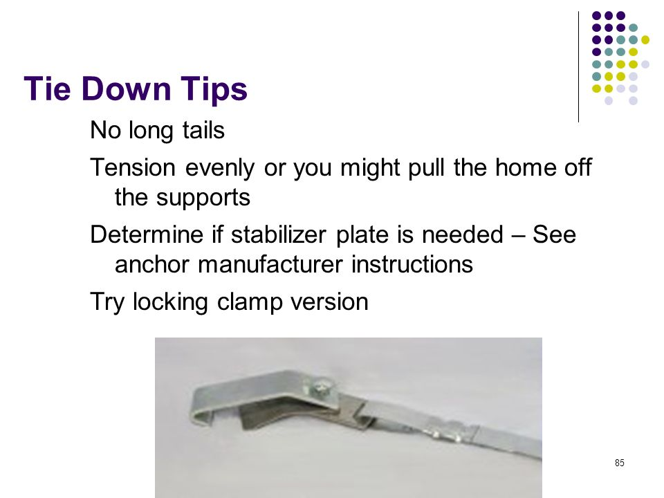 Tie Down Tips No long tails