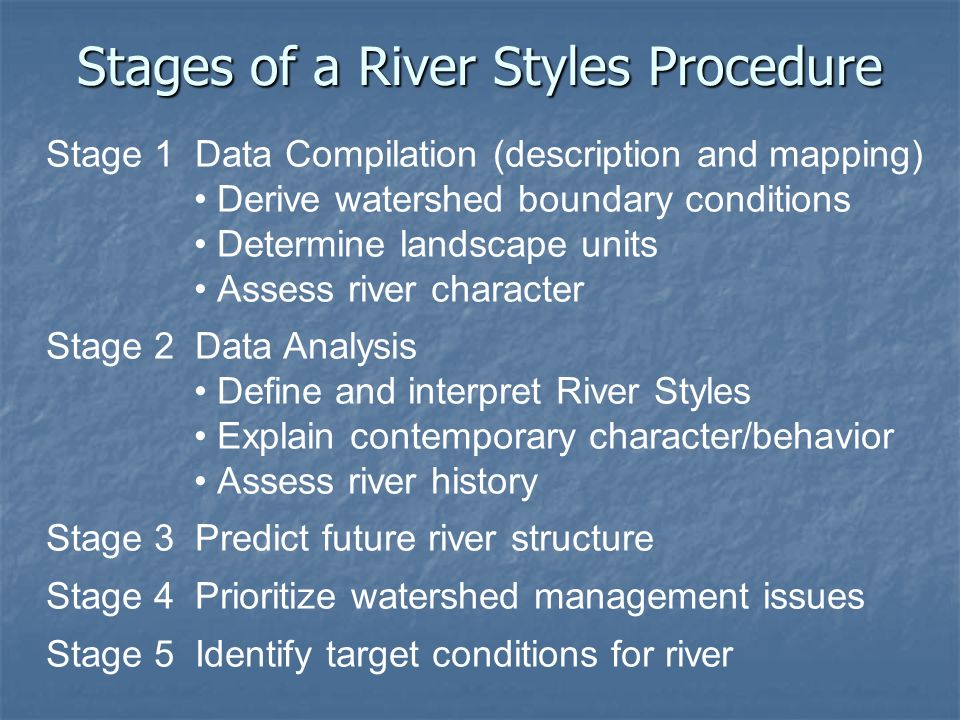 Stages of a River Styles Procedure
