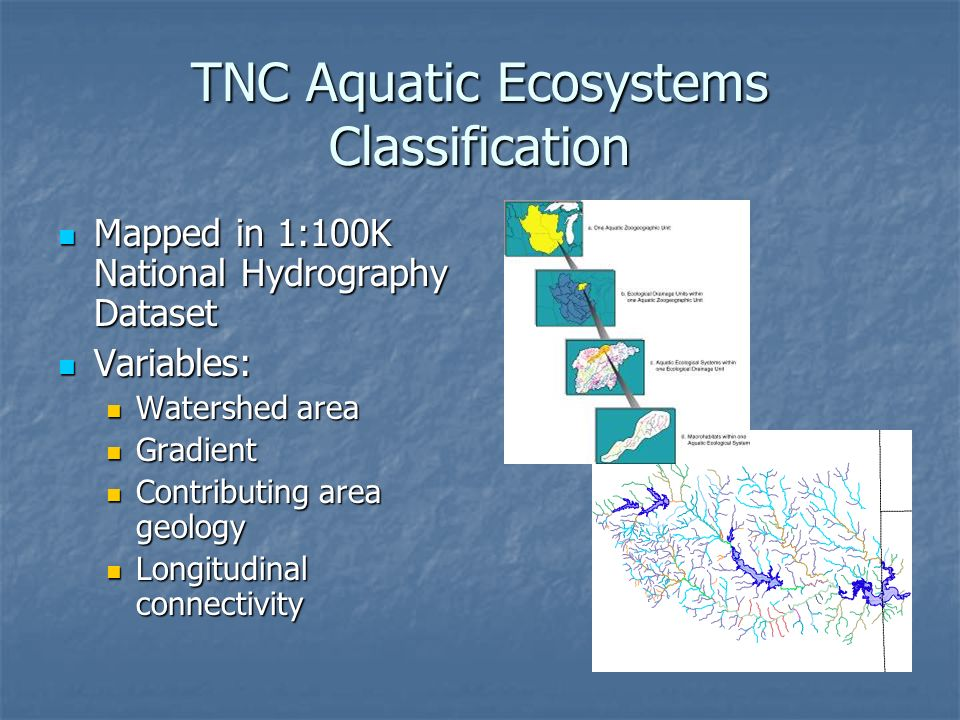 TNC Aquatic Ecosystems Classification