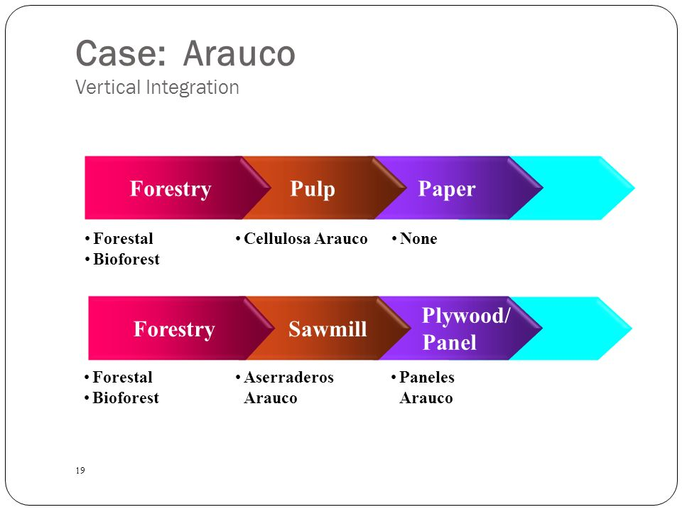 arauco business case Password is case sensitive  celulosa arauco sa and empresas cmpc: hypothetical purchase of pulp peer eldorado suggests business benefits but would heighten.