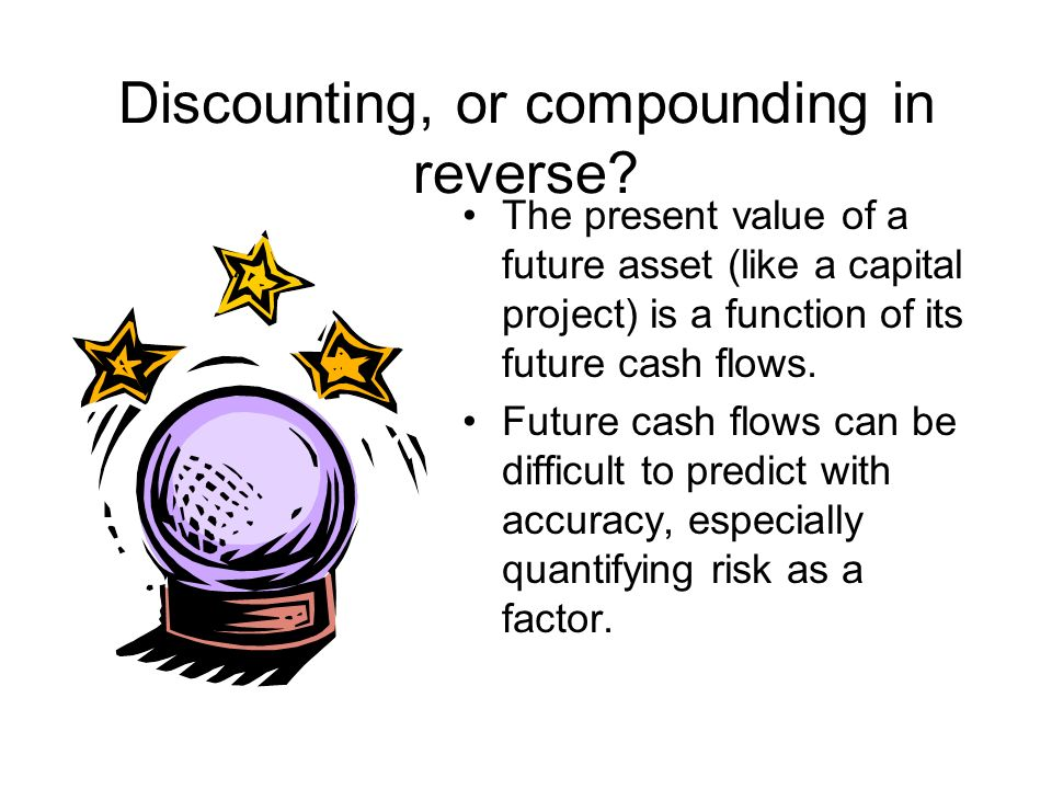 Discounting, or compounding in reverse