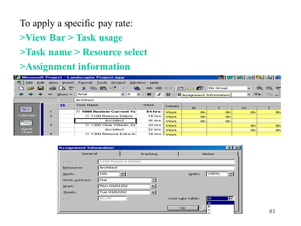 To apply a specific pay rate: