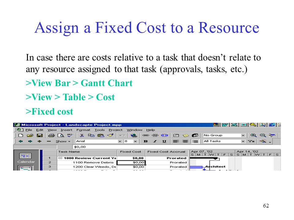 Assign a Fixed Cost to a Resource
