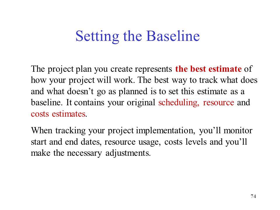 Setting the Baseline