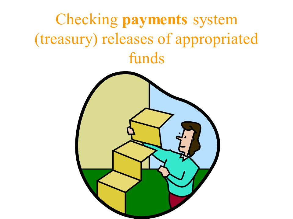 Checking payments system (treasury) releases of appropriated funds