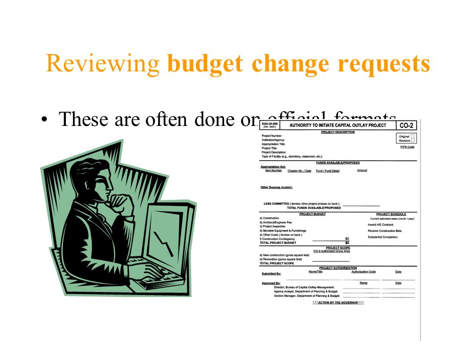 Reviewing budget change requests