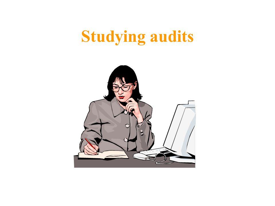 Studying audits