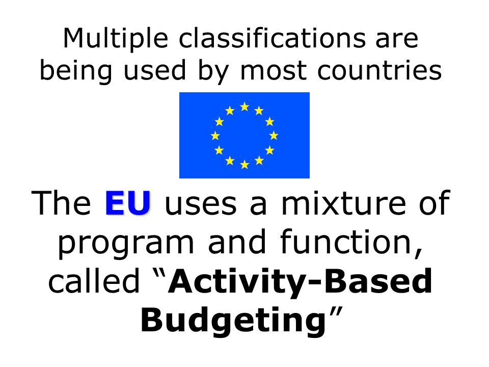 Multiple classifications are being used by most countries