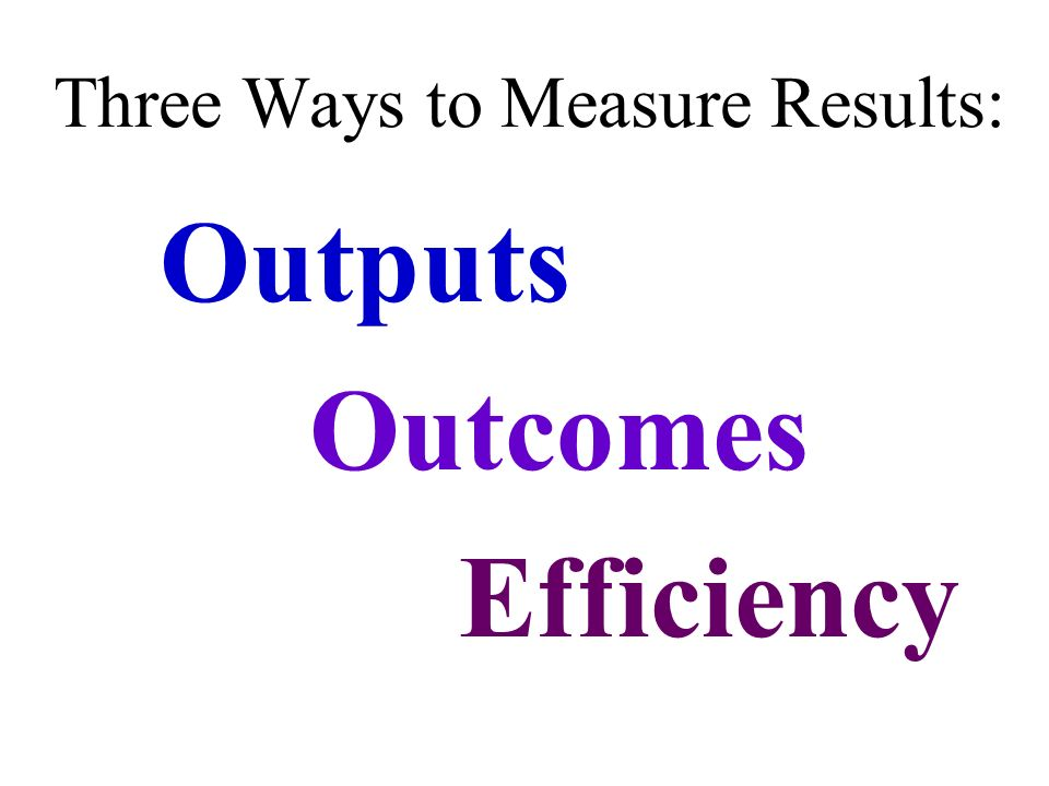 Three Ways to Measure Results: