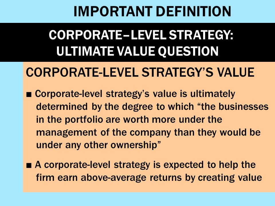 Chapter 6 corporate-level strategy creating value through diversification pdf