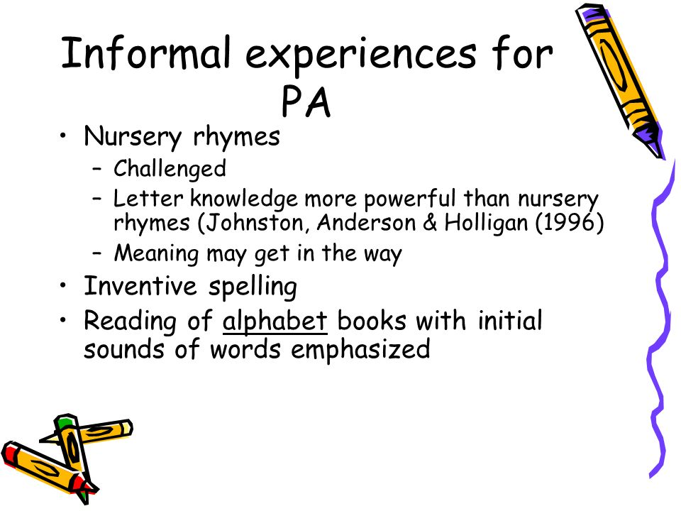Informal experiences for PA