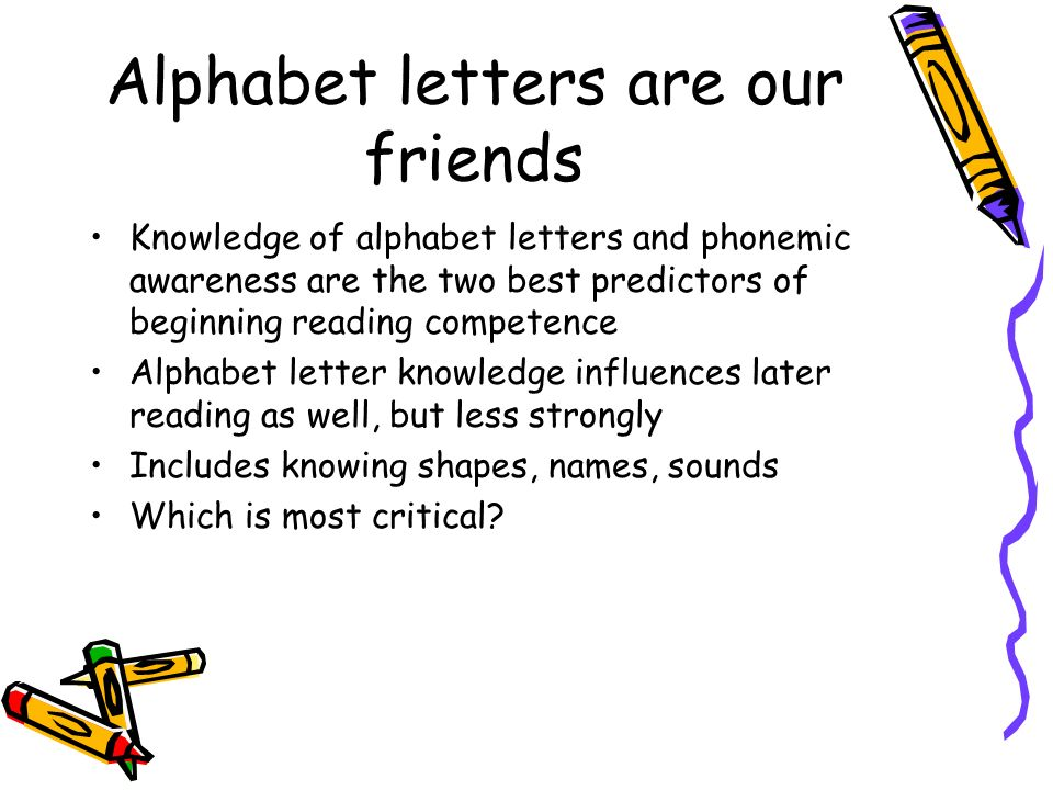 Alphabet letters are our friends