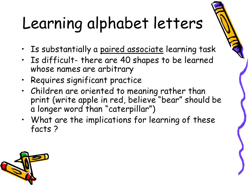 Learning alphabet letters