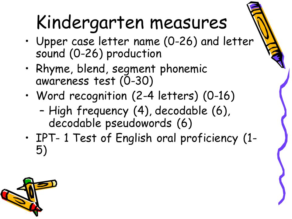 Kindergarten measures