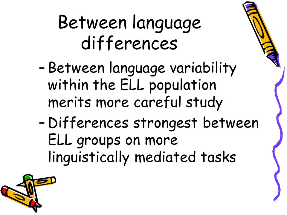 Between language differences