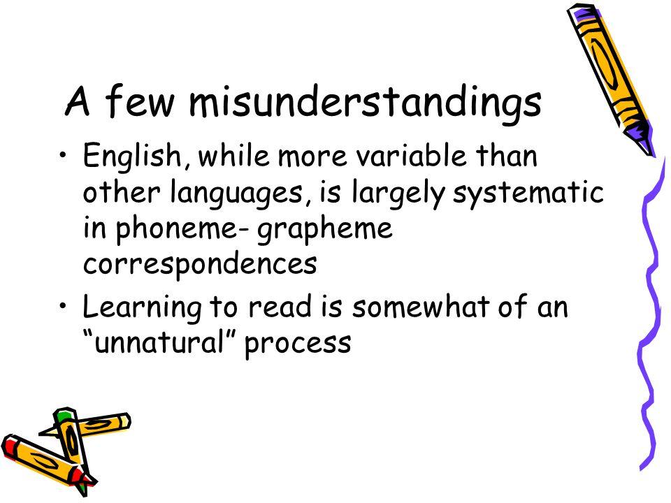 A few misunderstandings