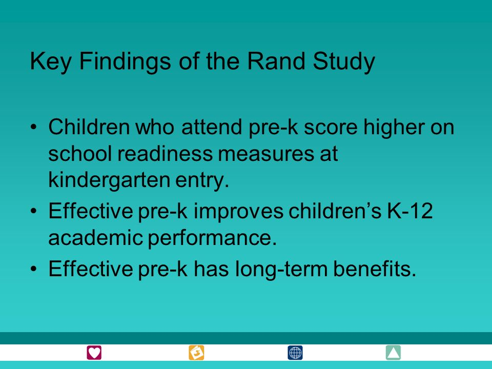 Key Findings of the Rand Study