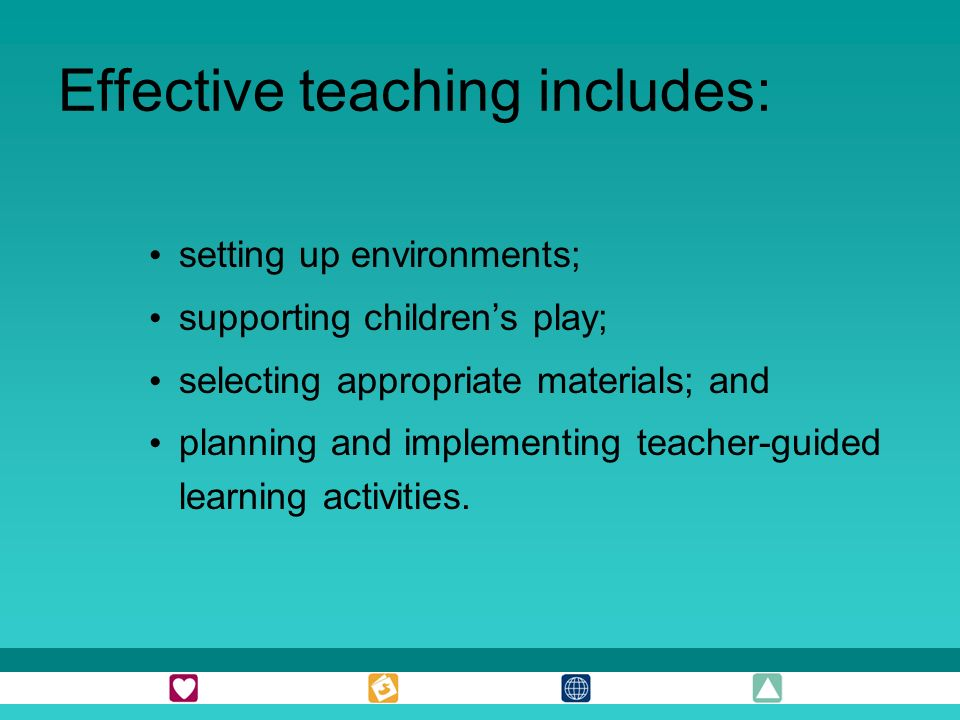 Effective teaching includes: