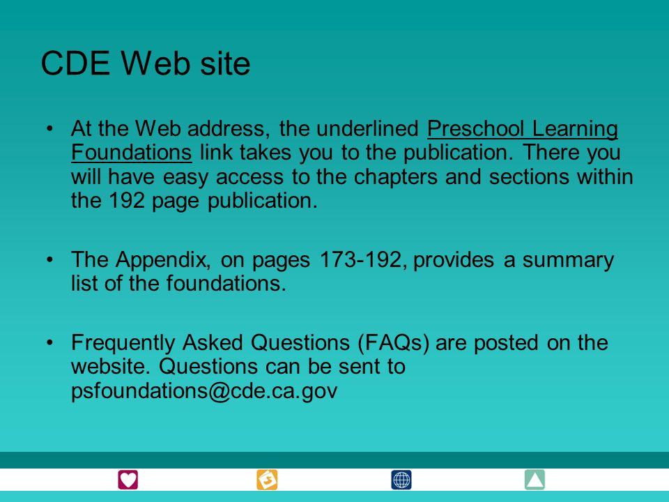 CDE Web site