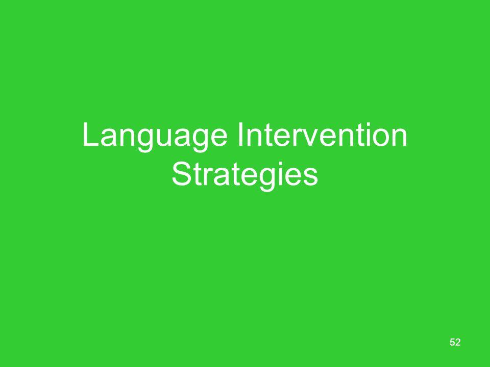 Language Intervention Strategies