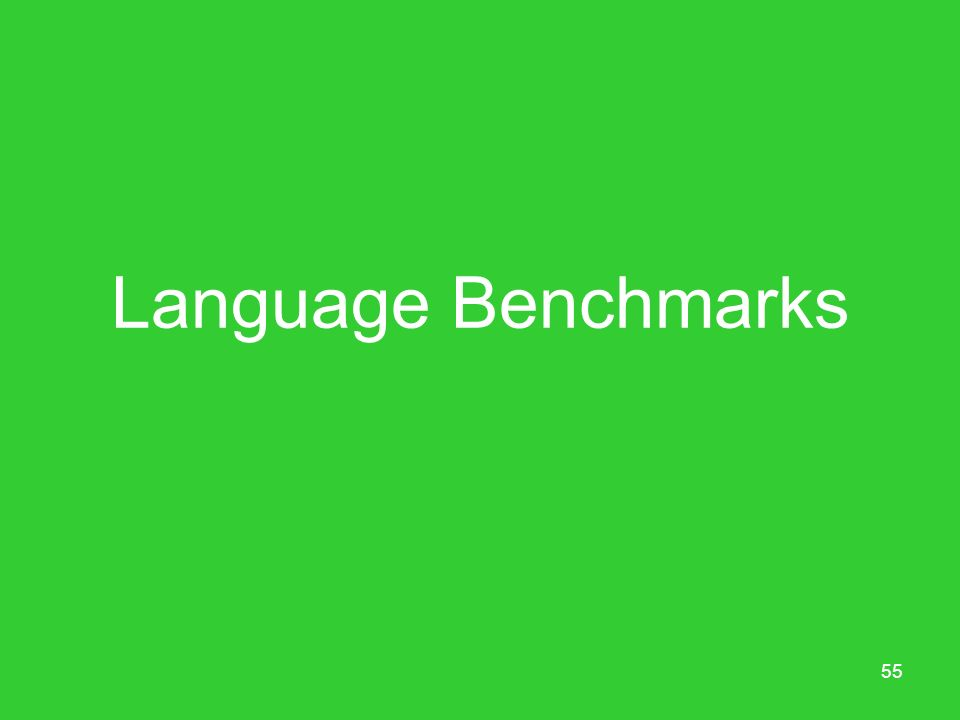 Language Benchmarks
