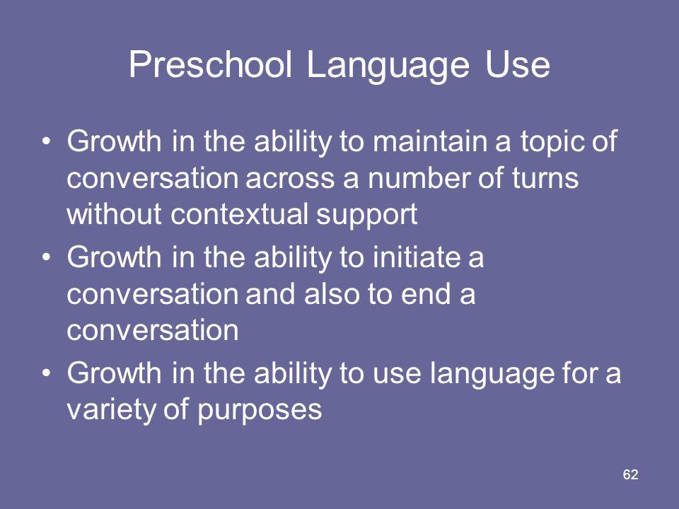 Preschool Language Use