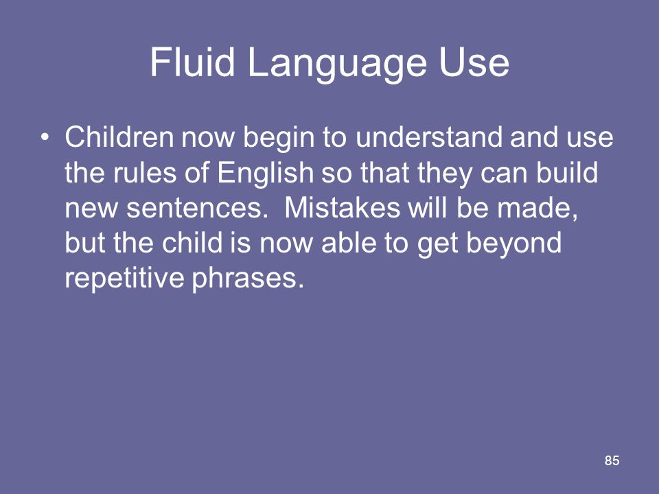 Fluid Language Use