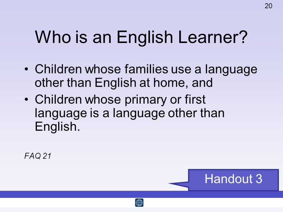 Who is an English Learner