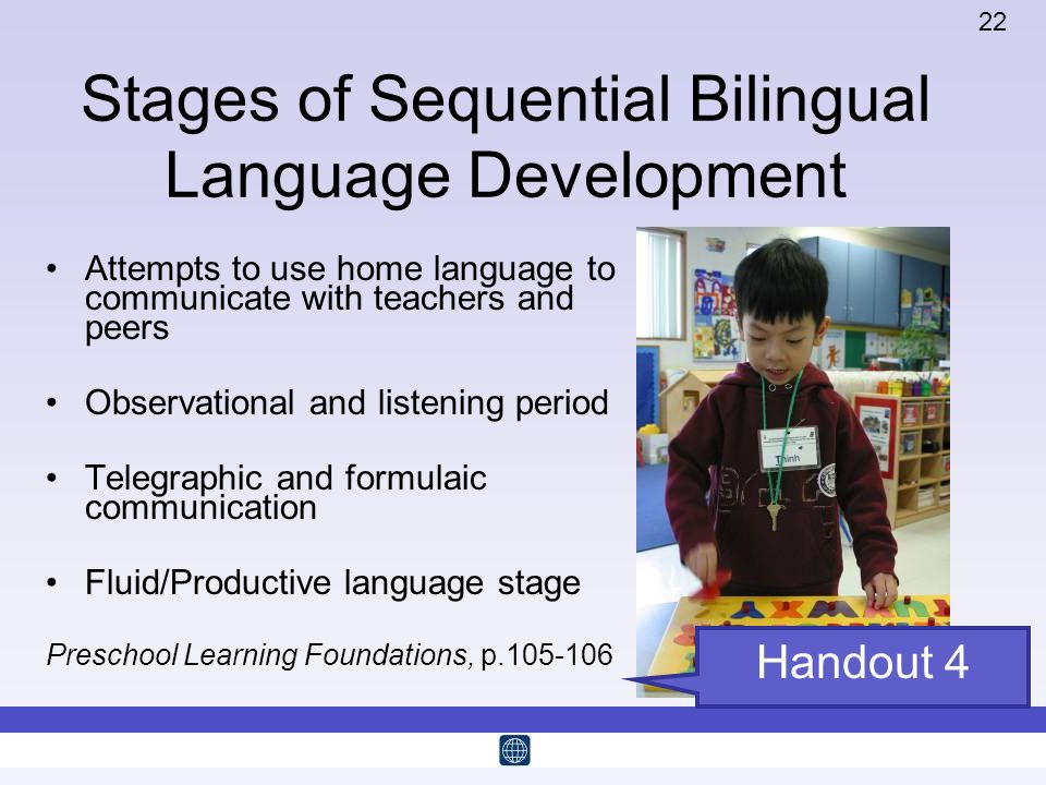 Stages of Sequential Bilingual Language Development