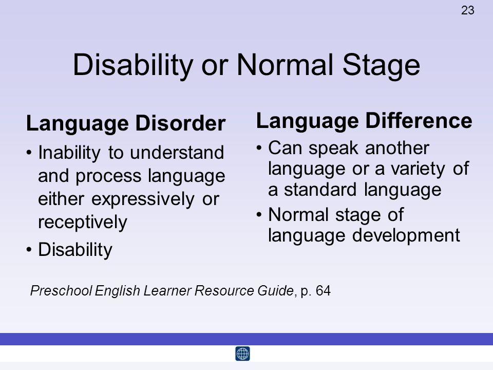 Disability or Normal Stage