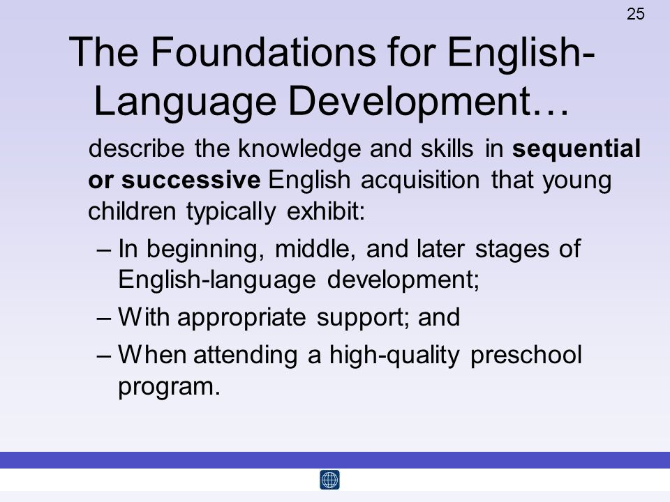 The Foundations for English-Language Development…