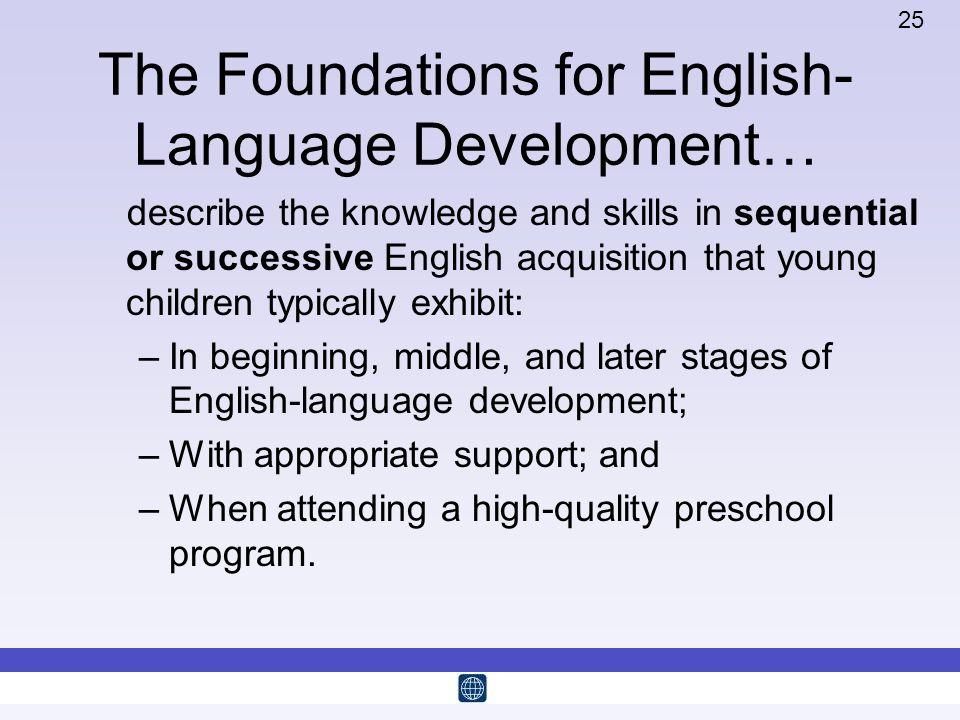 The Foundations for English-Language Development…