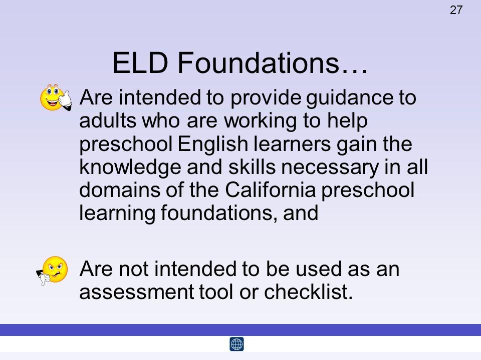 ELD Foundations…