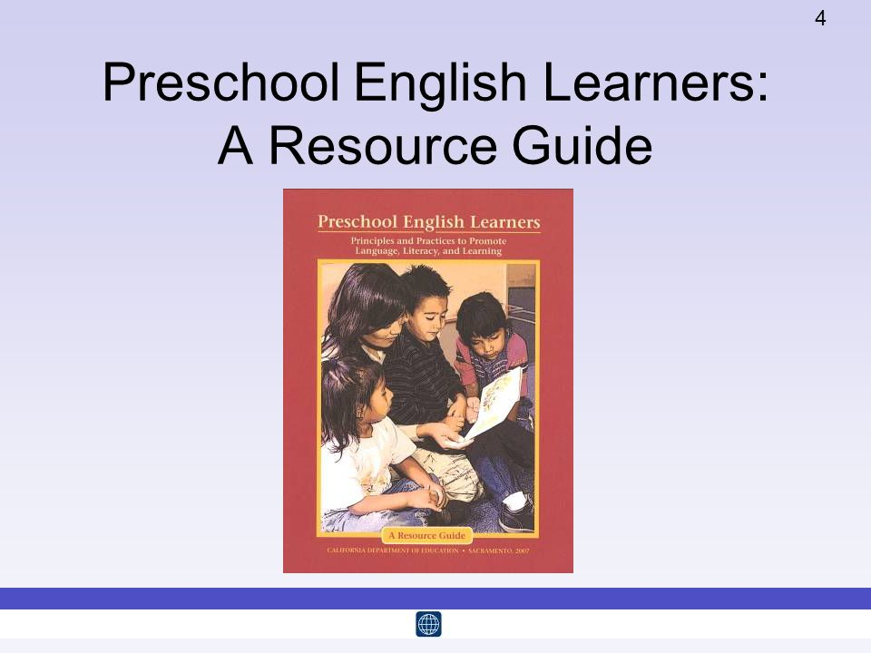 Preschool English Learners: A Resource Guide