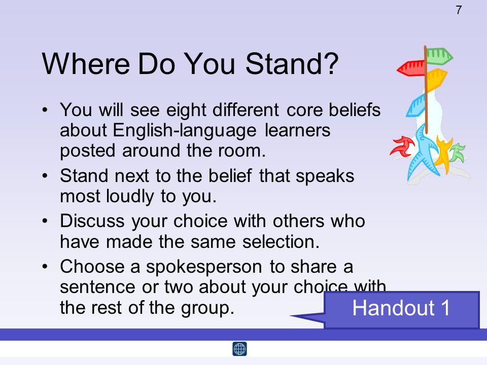 Where Do You Stand Handout 1