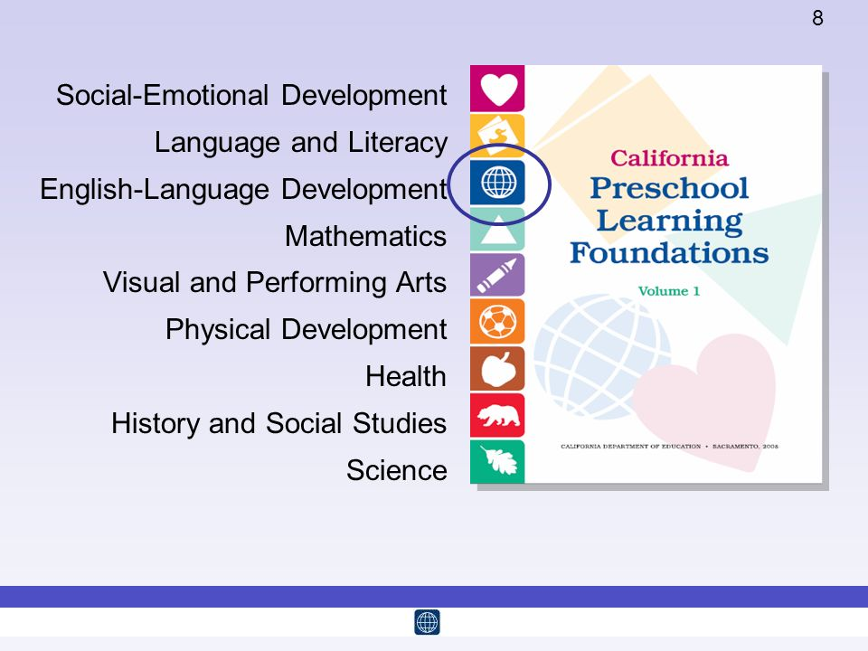 California Preschool Learning Foundations, Volume 1