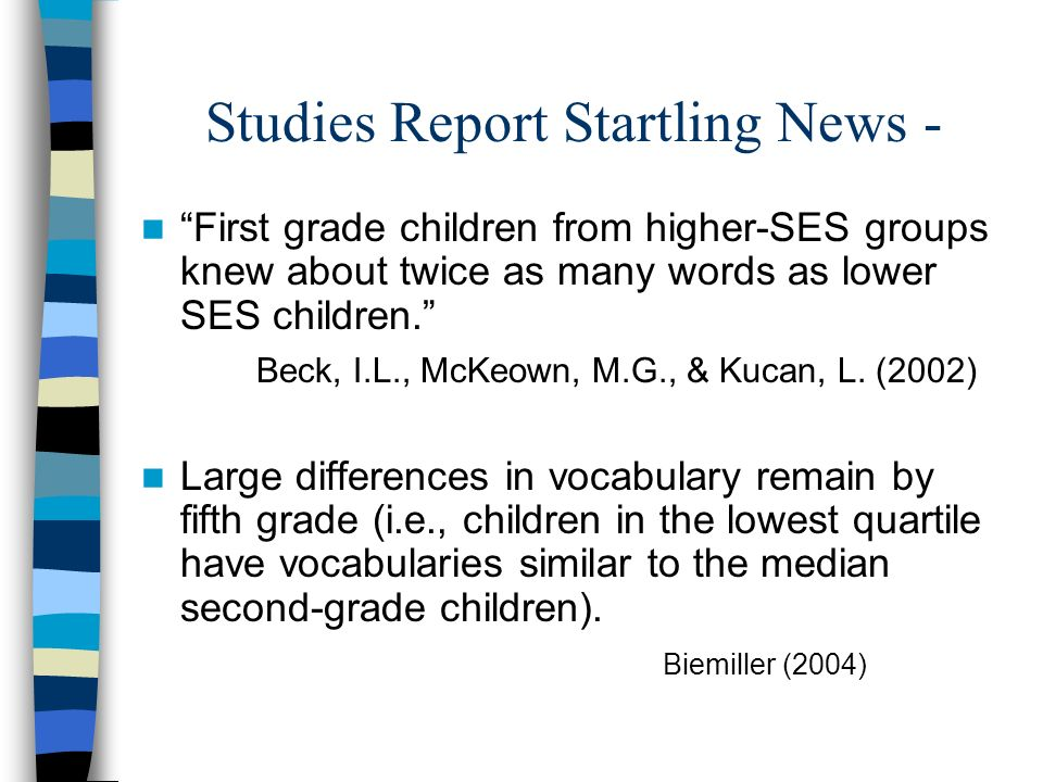 Studies Report Startling News -