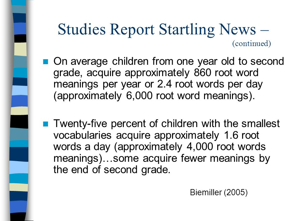 Studies Report Startling News – (continued)